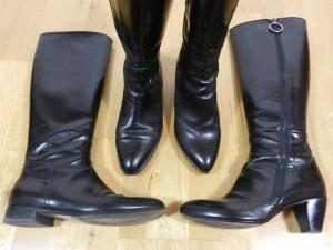 bottes noir cuir chaussures bureau