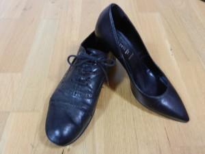 richelieus talons chaussures cuir noir bureau