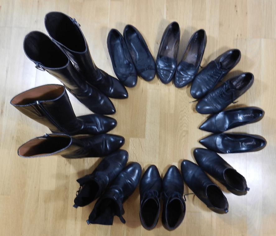 chaussures noires en cuir bureau
