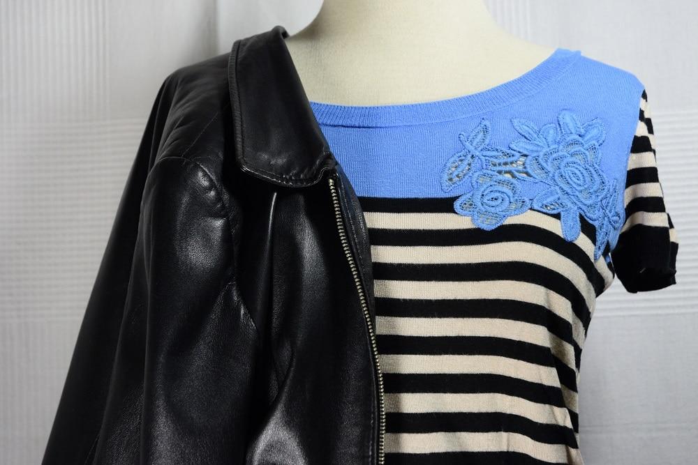 rayures et plis cuir deadlines dresses