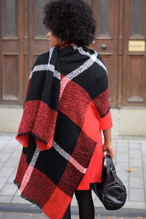 écharpe en laine facon cape