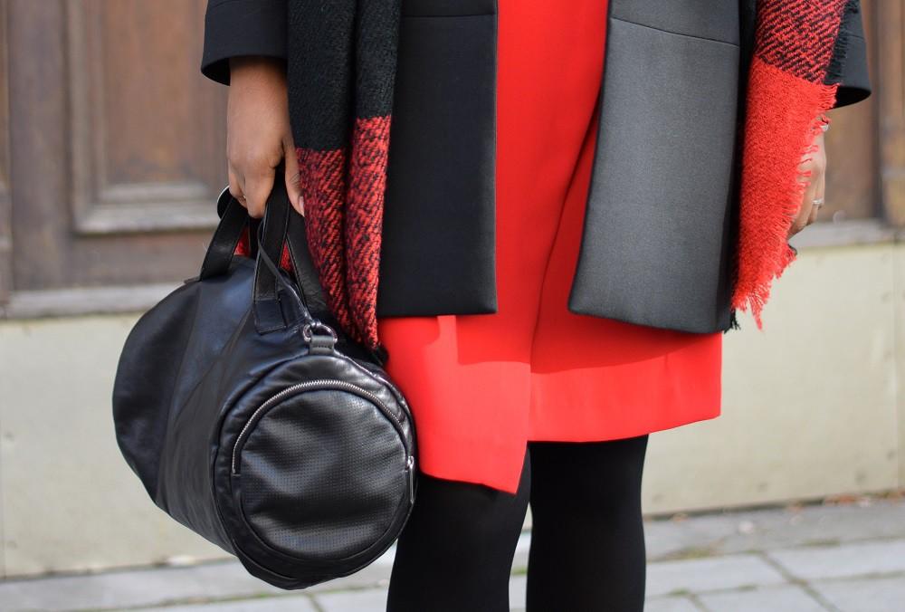 sac à main - cuir noir