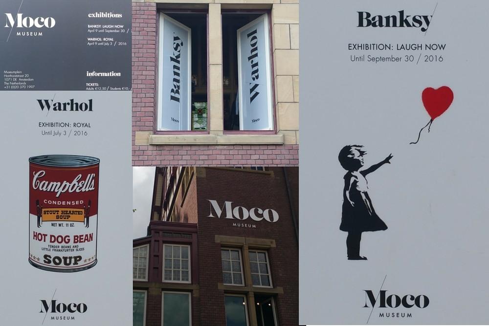 Exposition banksy Warhol Moco Amsterdam
