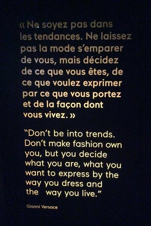 citation Versace ne suivez pas les tendances