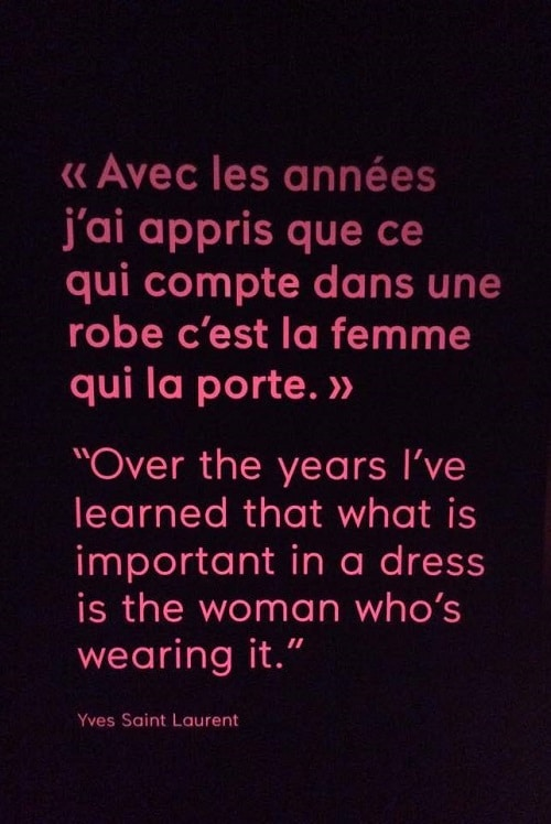 citation saint laurent robe femme