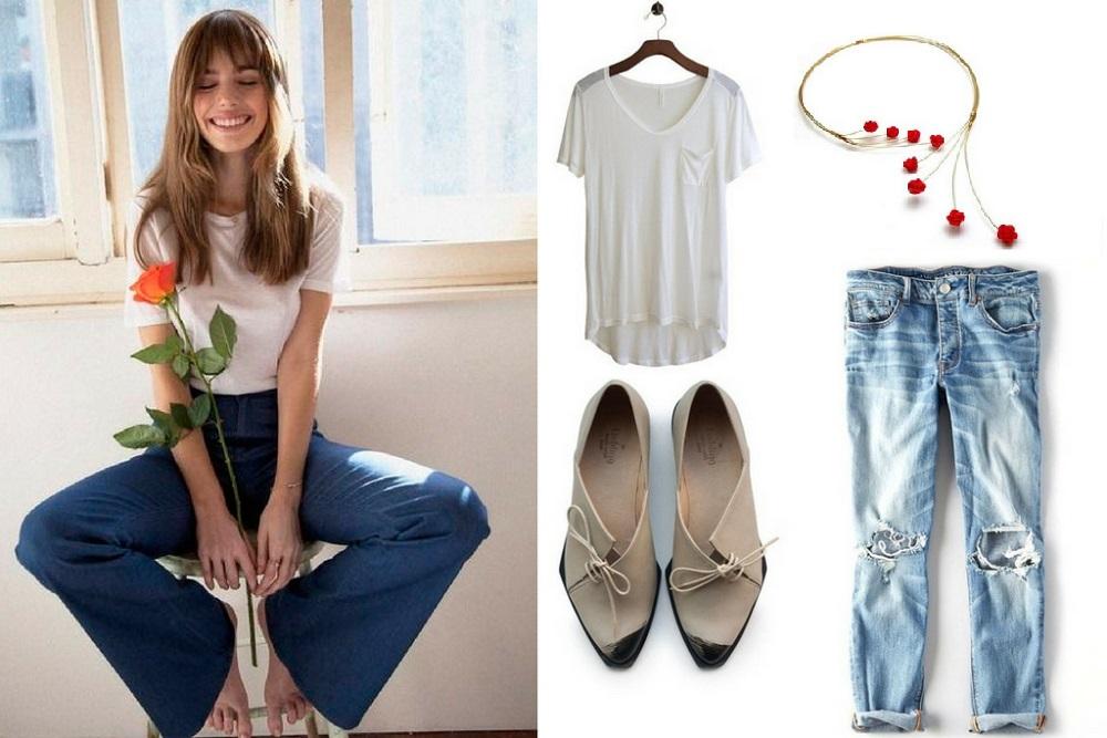 jeans white tshirt