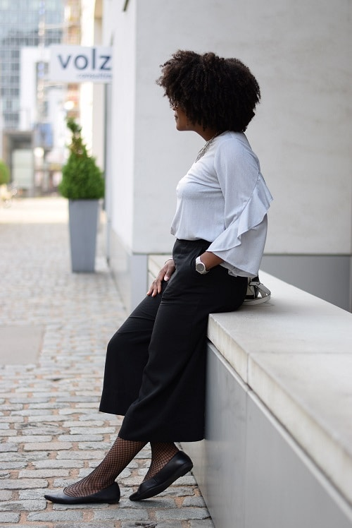 jupe-culotte assise