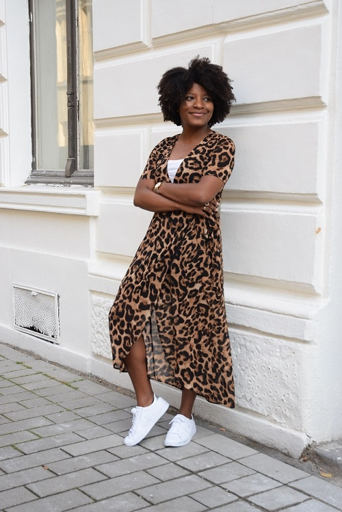 robe leopard portefeuille smile