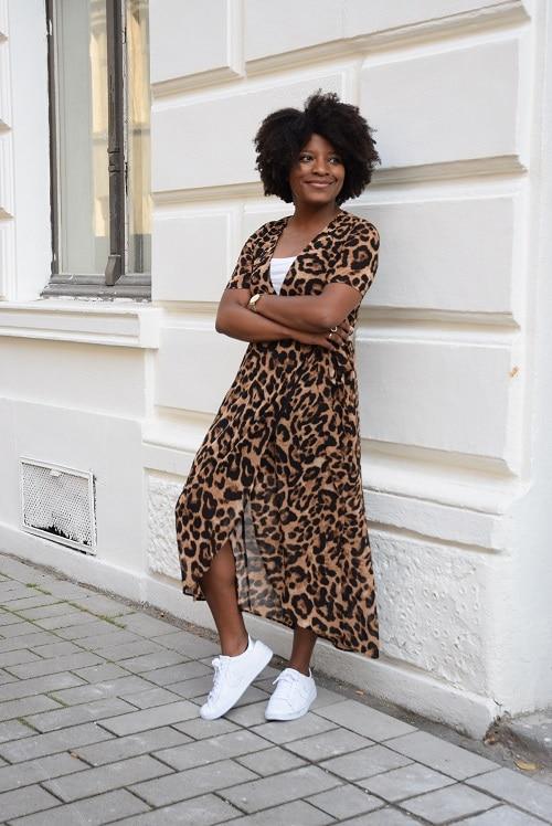 robe leopard portefeuille smile