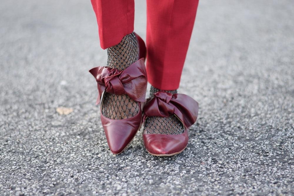 chaussettes résille argent originales