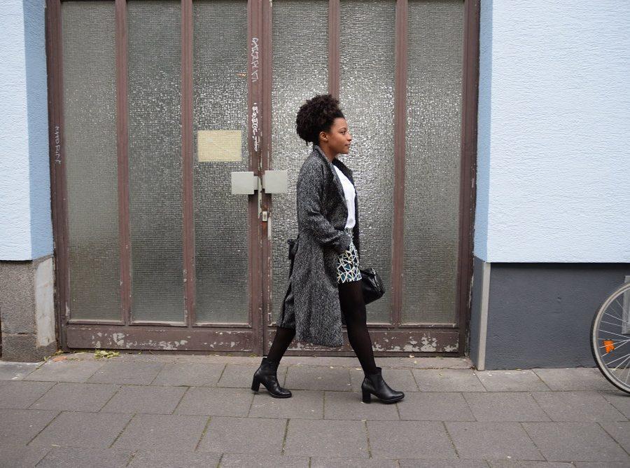 long manteau laine short bottines cuir