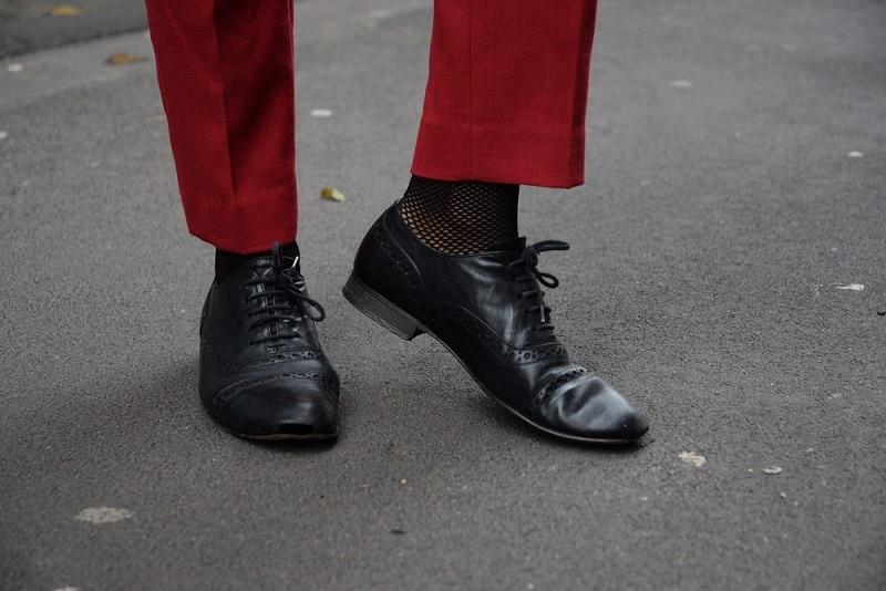 richelieus noirs à lacets