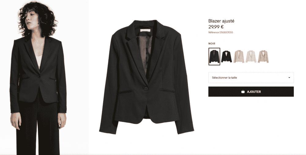 Blazer ajusté - Noir - FEMME _ H&M FR classique début de carrière