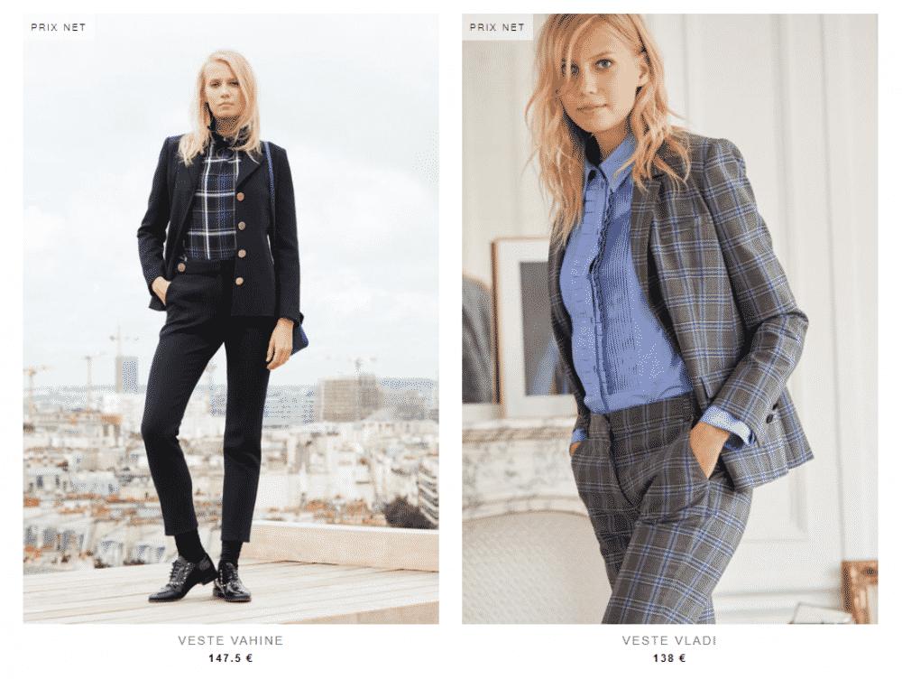 Vestes & blazer femme _ Claudie Pierlot- tailleur
