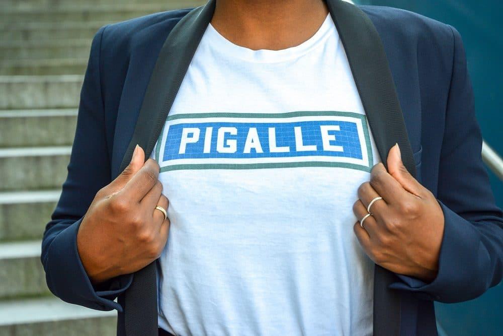 détail tshirt pigalle le bijou parisien